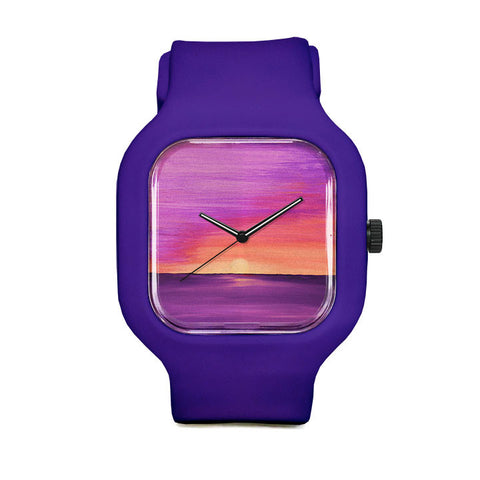 Purple Sunset Sport Watch