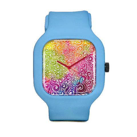 Swirly Woman Sport Watch