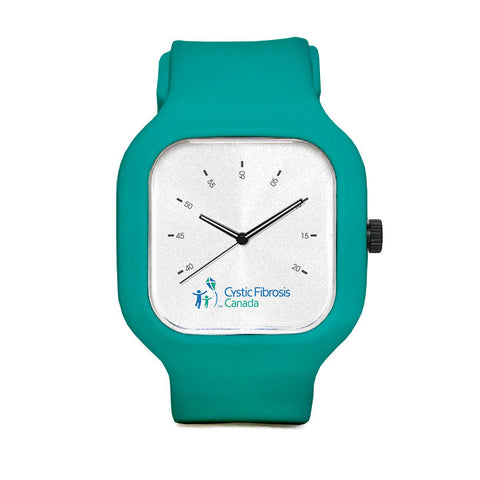 Cystic Fibrosis Canada White Sport Watch