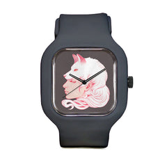 Sze Jones Grey Wolf Girl Sport Watch
