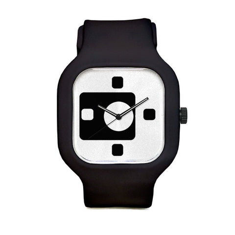 Black and White Chicklets Sport Watch
