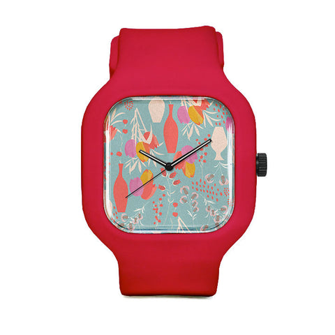 Spring Pattern Sport Watch