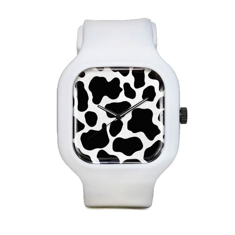 Cow Print Sport Watch