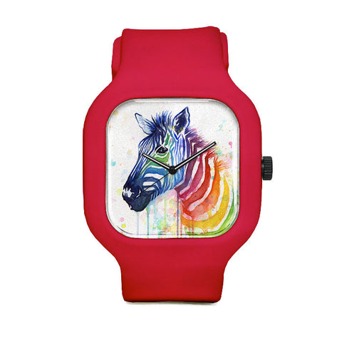 Rainbow Zebra Sport Watch