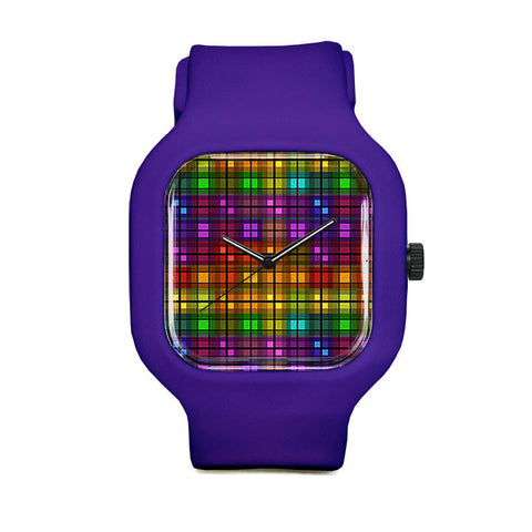 Over the Rainbow Plaid Sport Watch