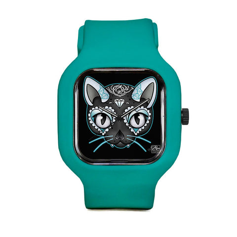 Blue Kitty Sport Watch