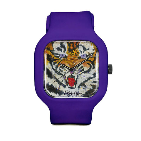 Louisiana Tiger Stripes Sport Watch