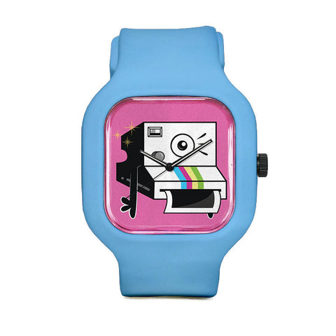 Les Pink Camera Sport Watch