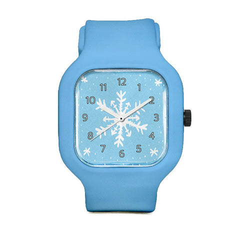 Handdrawn Snowflake Sport Watch