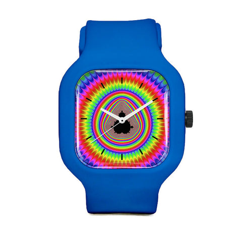 Rainbow Mandlebrot Sport Watch