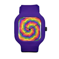 Rainbow Swirl Sport Watch