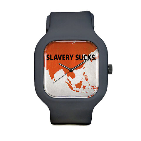 Slavery Sucks Sport Watch