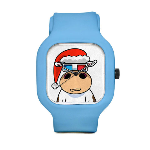 Cow Badge Xmas Sport Watch