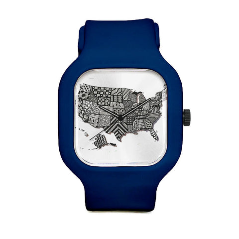 US Map Sport Watch
