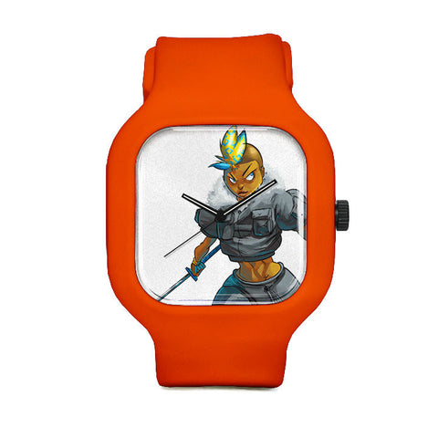 Orange Drink Sport Watch