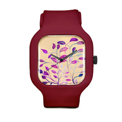 Tan Leaves Sport Watch