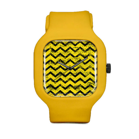 Yellow and Black Sport Watch