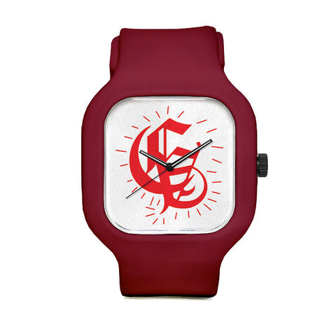 Central Ave Red Sport Watch