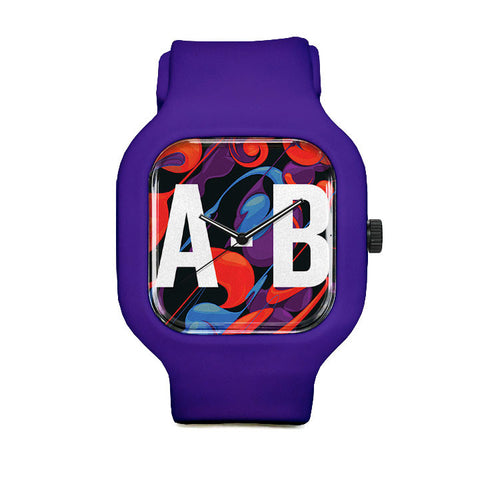 Swirly Pattern Sport Watch