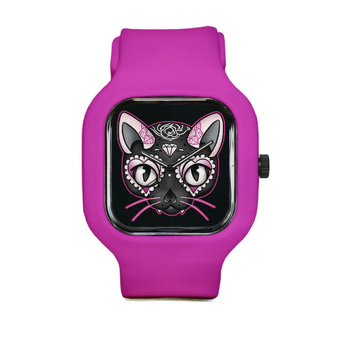 Day of the Dead Kitty Sport Watch