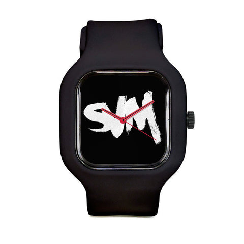 SVM Black Sport Watch