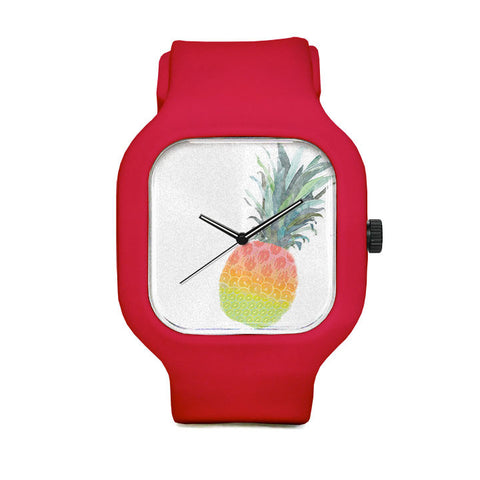 Rainbow Fruit Pineapple Sport Watch