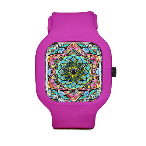 Stained Glass Mandala Sport Watch