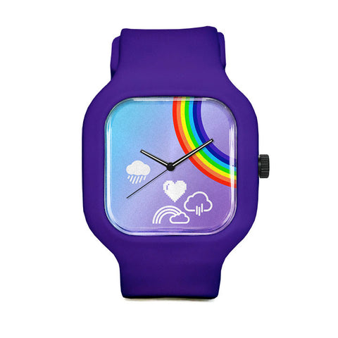 Purple Rainbow Chrono Sport Watch