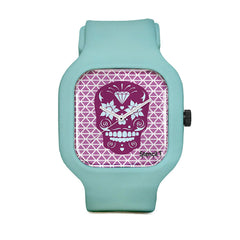 Stencil1 Sugar Skull Geometric Sport Watch