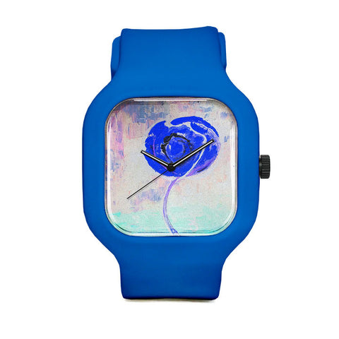 Golden Rose Acrylic Icey Blue Sport Watch
