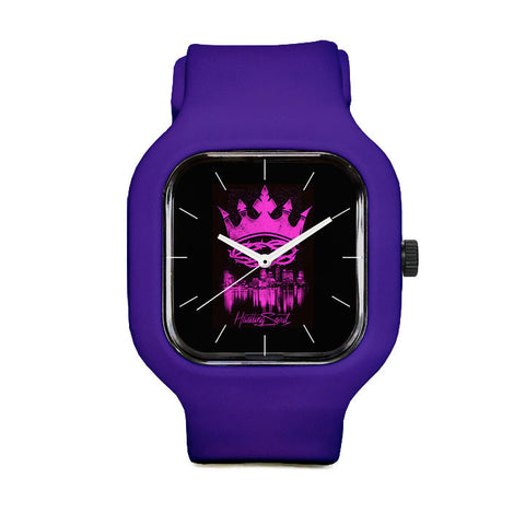 Pink Crown Sport Watch