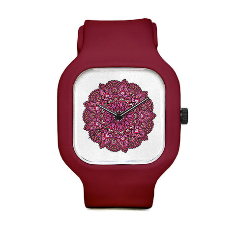 Pink Mandala Sport Watch