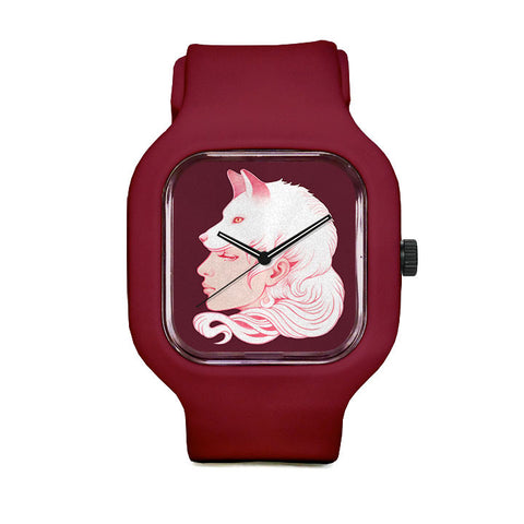 Sze Jones Red Wolf Girl Sport Watch