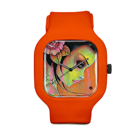 Tangerine Thoughts Sport Watch
