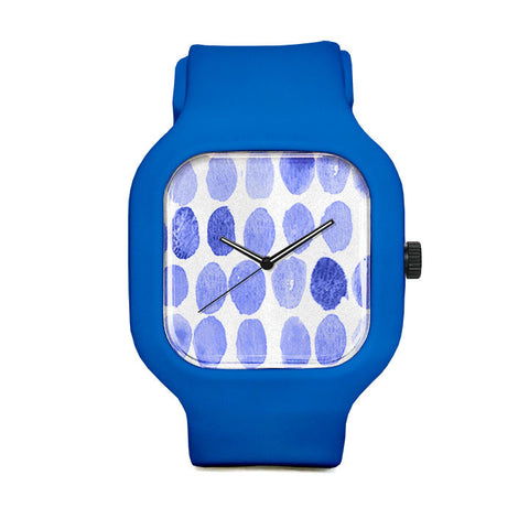 Blue Drops Sport Watch