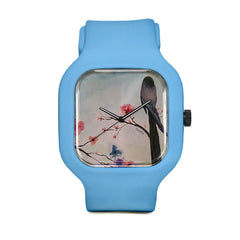 Bird and Flowers Sport Watch