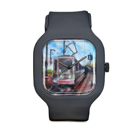Graffiti Train Sport Watch