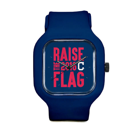 Cleveland Indians Raise the Flag Sport Watch