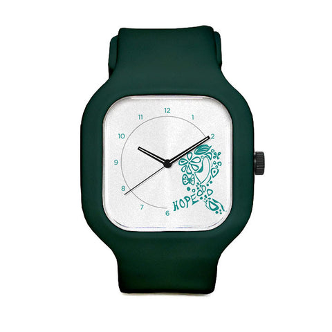 Teal Ribbon of hope Sport Watch