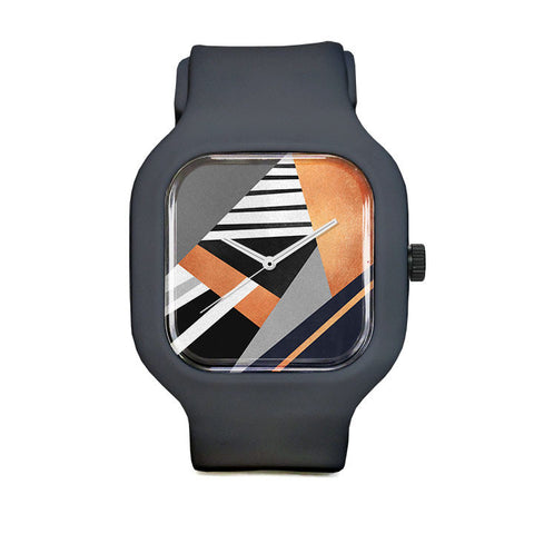 Geometric Combination Sport Watch