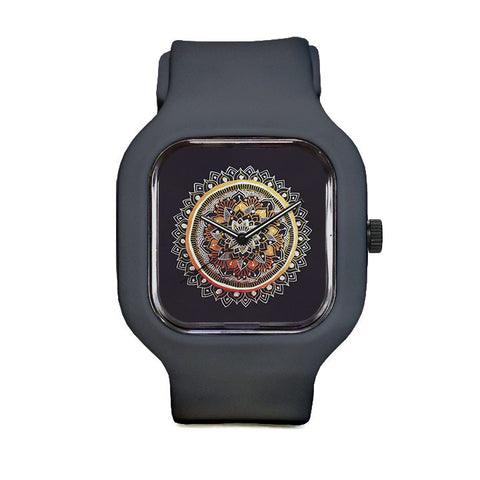 Gold and Silver Mandala Sport Watch