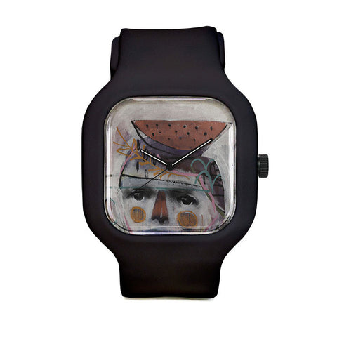Portrait and Watermelon Sport Watch