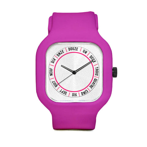 Masumah Jannah French Numbers Sport Watch