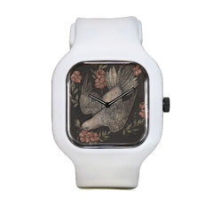 Dove and Flowers Sport Watch