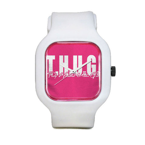 Pink T-shirt Sport Watch