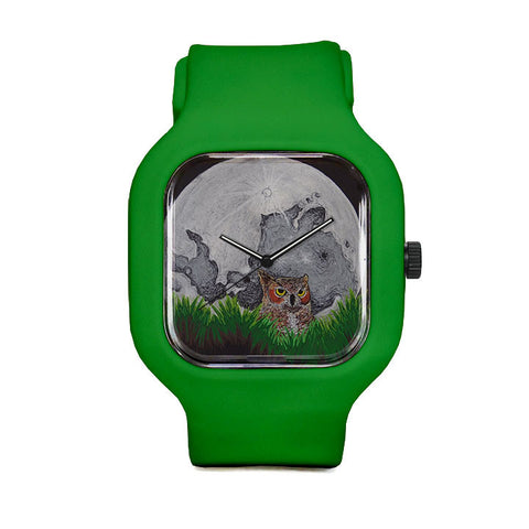 Great horned Owl Sport Watch