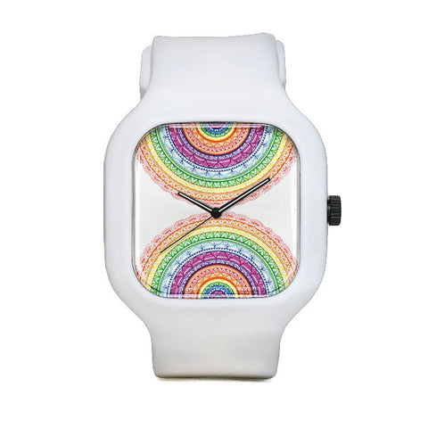 Rainbow Mandala Sport Watch