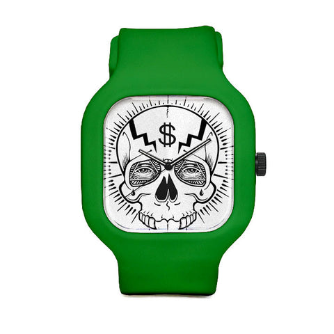 Dollar Skull Sport Watch