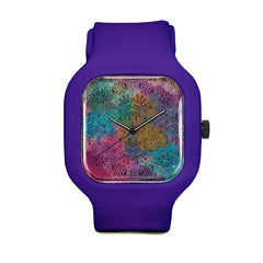Floral Pattern Sport Watch