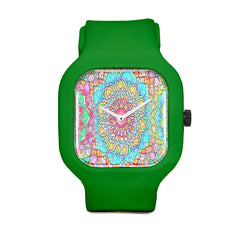 Vibrant Mandala Sport Watch